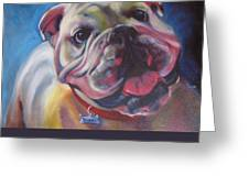 Georgia Bulldog Greeting Card