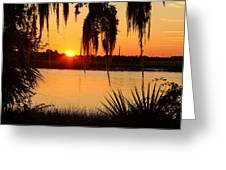 Georgia Sunset Greeting Card