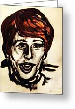 Georgie Fame Portrait Greeting Card