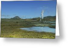 Geothermal Power Station Iceland  Greeting Card