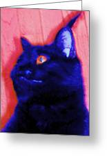 Gepetto The Cat Godzilla Greeting Card