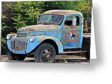 Geraine's Blue Truck Greeting Card
