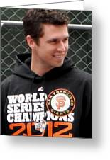 Gerald Buster Posey Greeting Card
