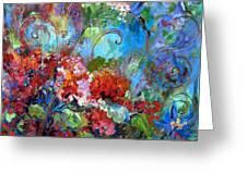 Geranium Garden Greeting Card