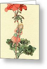 Geranium Girl Greeting Card