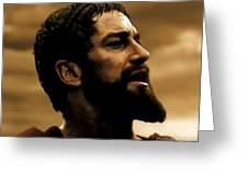 Gerard Butler  In 300 Greeting Card