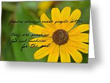 Gerber Daisy Quote Greeting Card