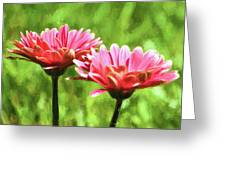 Gerbera Daisies To Brighten Your Day Greeting Card