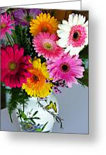 Gerbera Daisy Bouquet Greeting Card