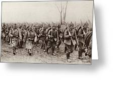 German And Austrian Soldiers Marching Greeting Card