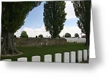 German Bunker At Tyne Cot Cemetery Greeting Card