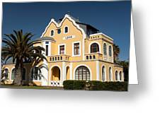German Colonial Architecture In Swakopmund Greeting Card