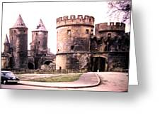 German Gate In Metz 1955 Greeting Card