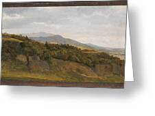 German Landscape With View Towards A Broad Valley , Fritz Petzholdt Greeting Card