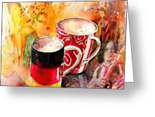 German Mugs And Christie Greeting Card