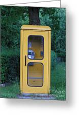 German Phone Booth Greeting Card