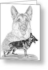 German Shepherd Dogs Print Greeting Card by Kelli Swan