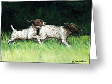 German Shorthaired Pointer Pups Greeting Card