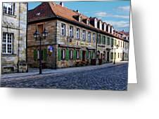 German Street Scene Greeting Card