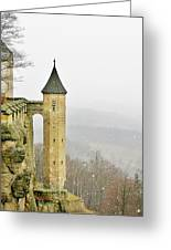 Germany - Elbtal From Festung Koenigstein Greeting Card