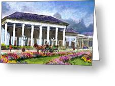 Germany Baden-baden Kurhaus Kasino Greeting Card