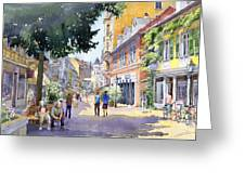 Germany Baden-baden Lange Strasse Greeting Card