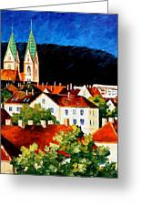 Germany Freiburg Greeting Card