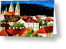 Germany Freiburg Greeting Card