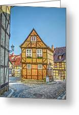Germany - Half-timbered Houses And Alleys In Quedlinburg Greeting Card