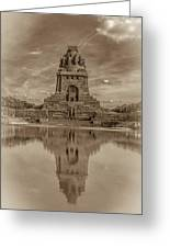 Germany - Monument To The Battle Of The Nations In Leipzig, Saxony, In Sepia Greeting Card