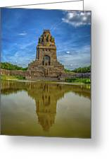 Germany - Monument To The Battle Of The Nations In Leipzig, Saxony Greeting Card