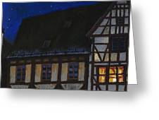 Germany Ulm Fischer Viertel Moonroofs Greeting Card