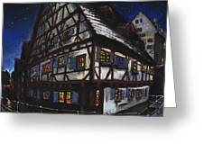 Germany Ulm Fischer Viertel Schwor-haus Greeting Card by Yuriy  Shevchuk