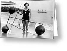 Gertrude Ederle (1906-2003) Greeting Card