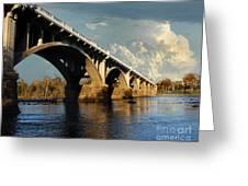 Gervais Street Bridge, Columbia, Sc Greeting Card