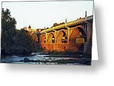 Gervais Street Bridge Upstream  Greeting Card