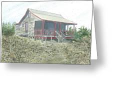 Get Away Cottage Greeting Card