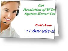 Get Expert Guidance For Windows System Error Codes Greeting Card