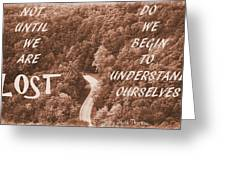 Get Lost Quote Greeting Card