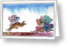 Get Ready For Corporate  Horse Racing Greeting Card