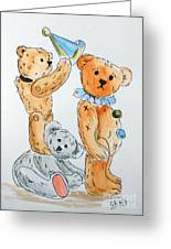 Get Ready Teddy Greeting Card