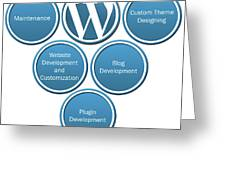 Get Result Oriented Word Press Development Services Greeting Card