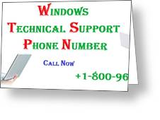 Get Technical Support For Windows Greeting Card