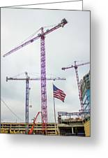 Getter Done Tower Crane Construction Art Greeting Card