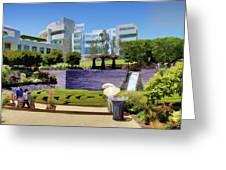 Getty Gardens Greeting Card