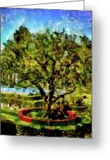 Getty Villa Landscape Greeting Card