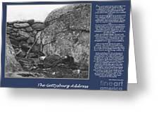 Gettysburg Address Civil War Devils Den Greeting Card