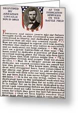 Gettysburg Address Greeting Card by International  Images