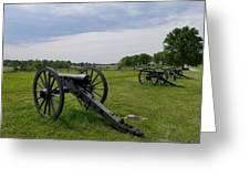 Gettysburg Battlefield Cannons Greeting Card