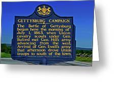 Gettysburg Campaign Greeting Card